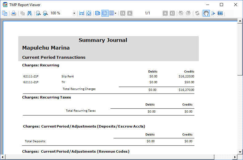 Total Marina Package: Marina Management Software Report Summary